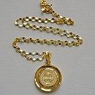 Medalik świętego Benedykta pozłacany