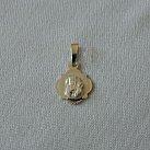 Medalik srebrny diamentowany wzór 7