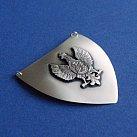 Ryngraf Srebrny Orzeł w Koronie 5x5 cm.