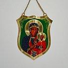 Ryngraf metalowy Matka Boska Częstochowska 11x15 cm.