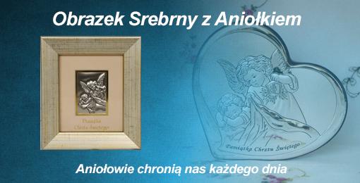 Obrazki Srebrne Aniołek