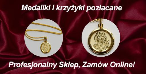 Medaliki pozłacane